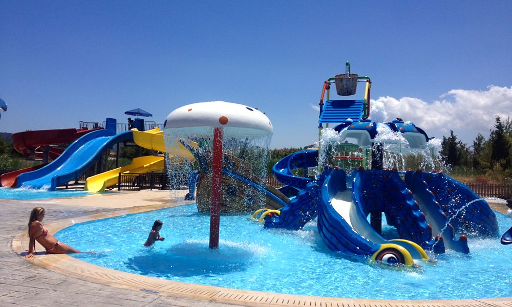 Splash park at Alykanas beach resort, Zakynthos