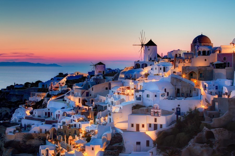 Santorini, one of the top ten romantic destinations by The Travel Expert