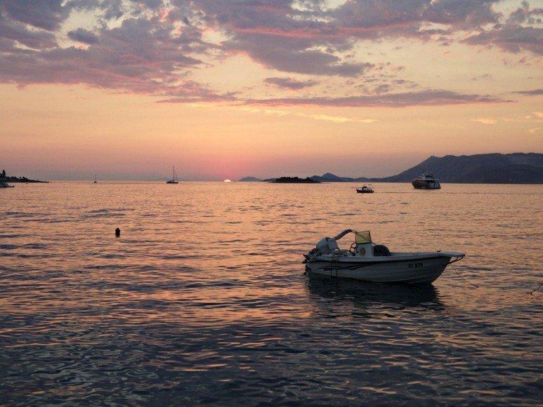 Cavtat sunset Dubrovnik, Croatia
