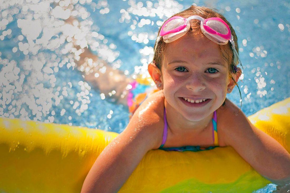 Child swimming in the Algarve