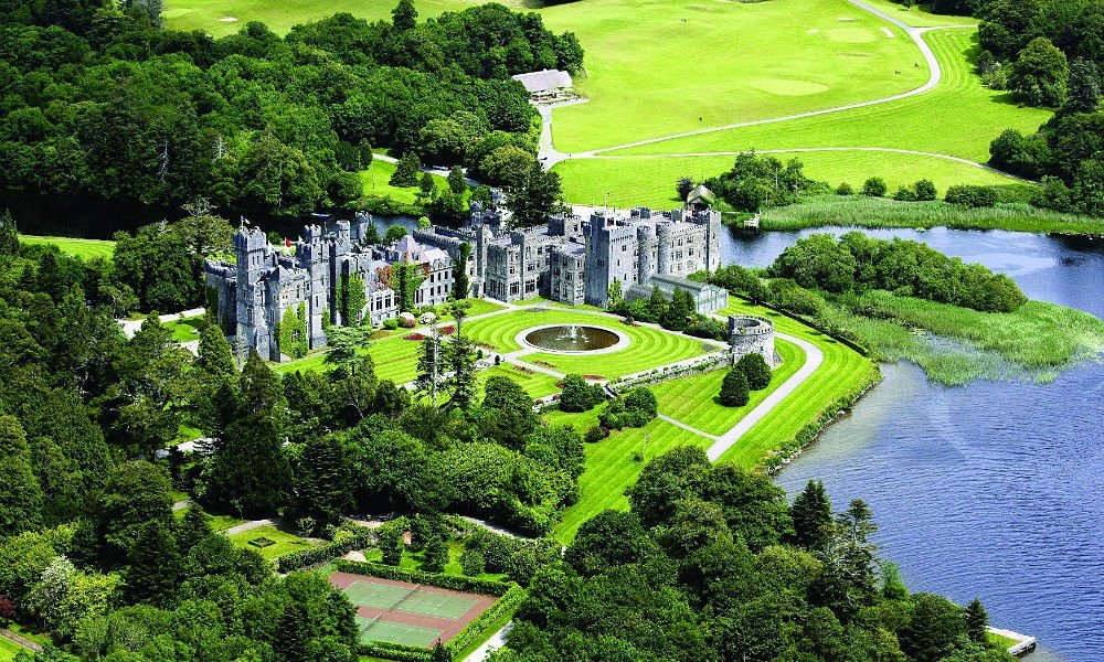 Ashford castle is one of luxury hotels to stay on the Wild Atlantic Way