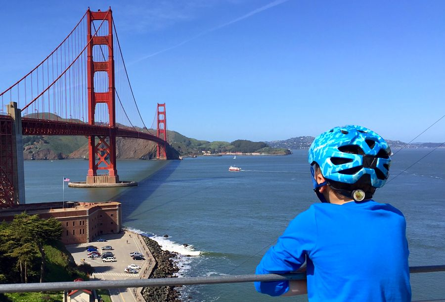 San Francisco Family Holiday Biking The Bridge The