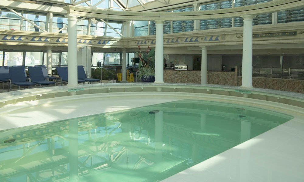 The Glass House Indoor pool on TUI DIscovery