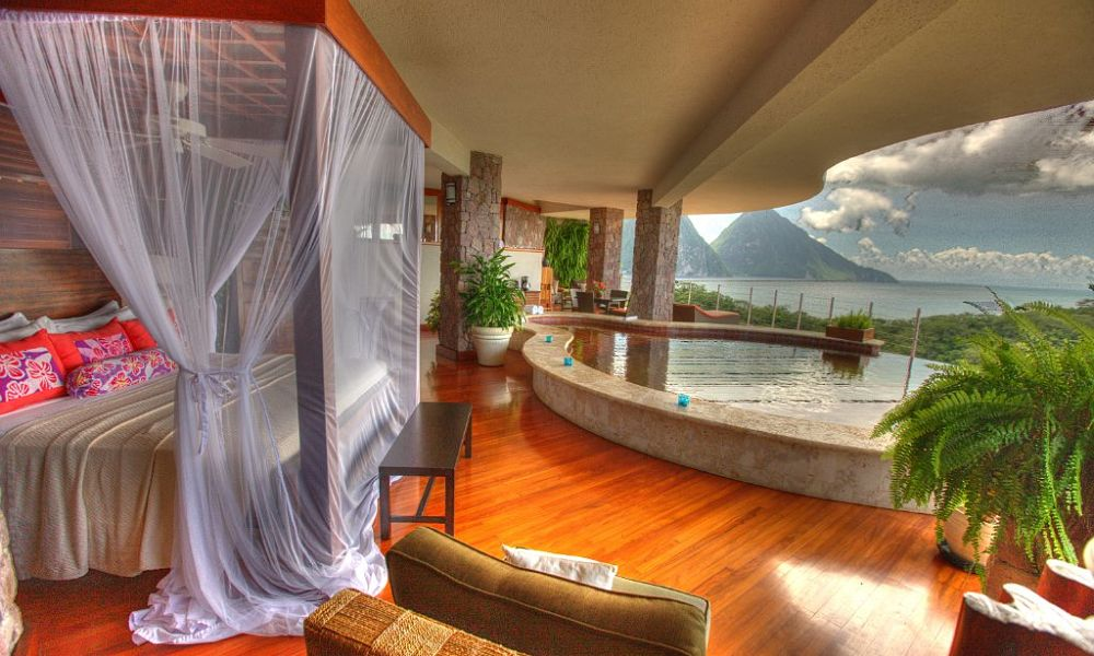 Jade Mountain St Lucia - five star hotel in the Caribbean