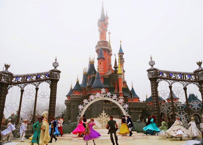 Disneyland Paris at Christmas time