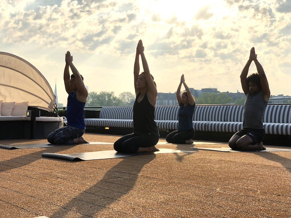 u river cruises rooftop yoga
