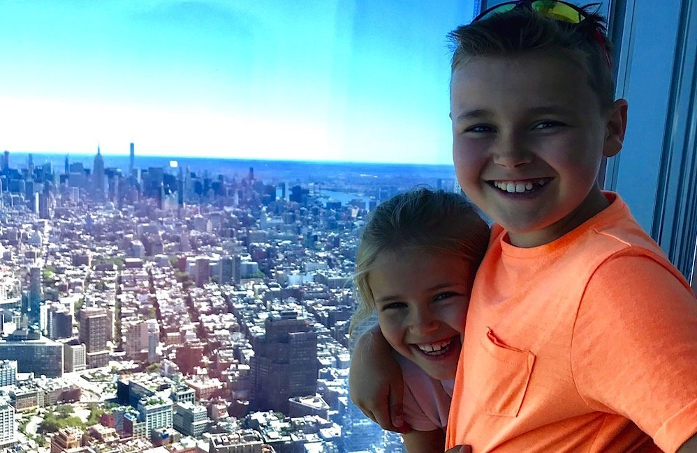 one world observatory with kids