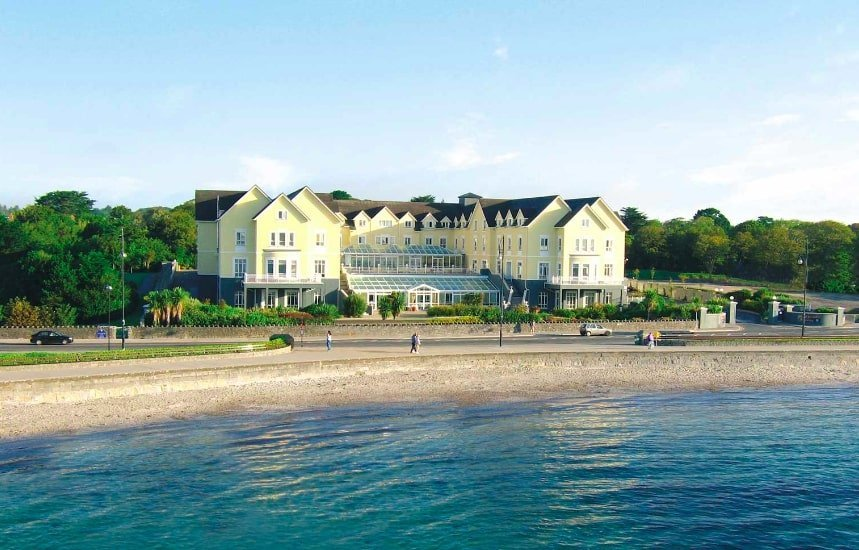 Galway Bay hotel is located beside the beach.