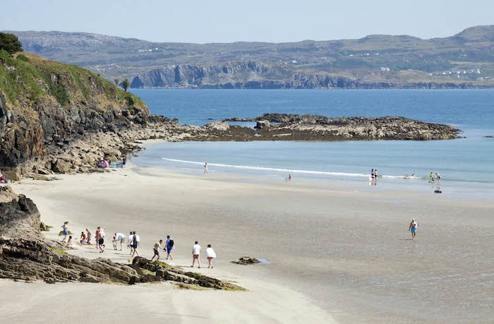 beach at shandon beach hotel, a great place to stay on wild atlantic way