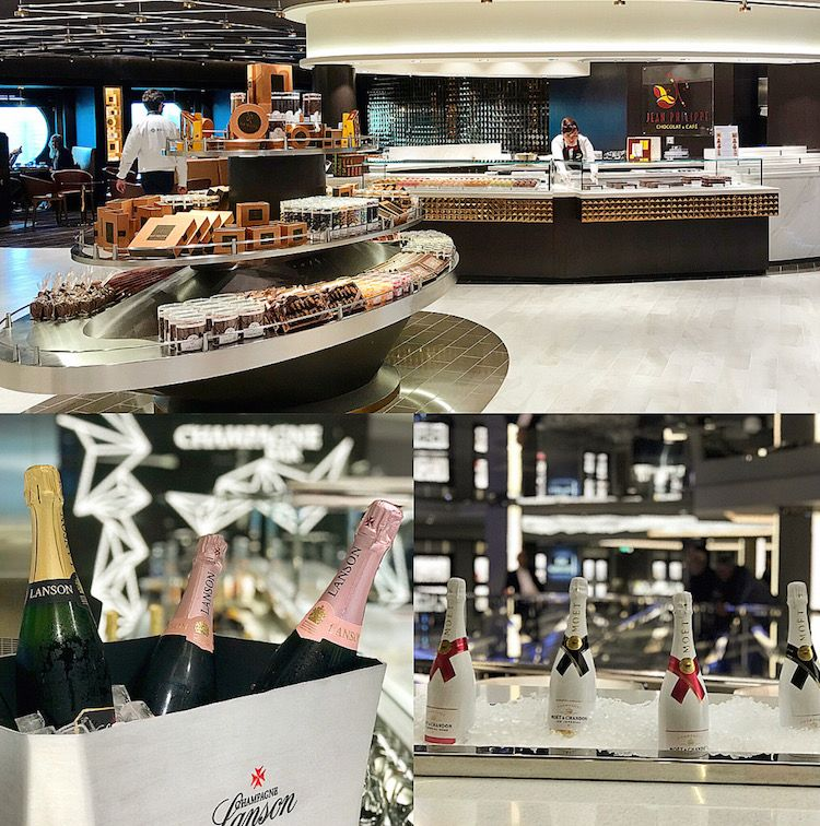 champagne bar on msc bellissima