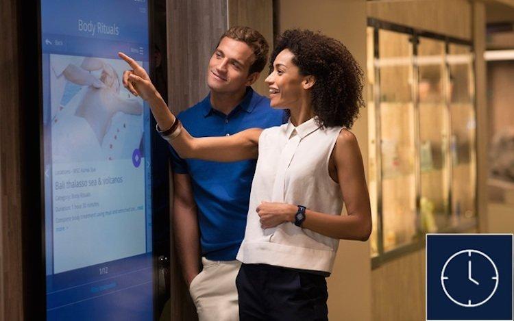 interactive displays on msc bellissima