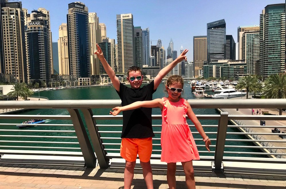 dubai marina with kids