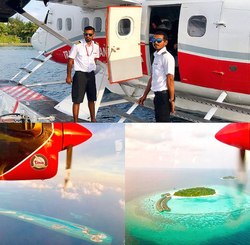 maldives sea plane transfer