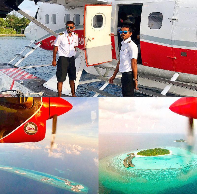 maldives sea plane transfer