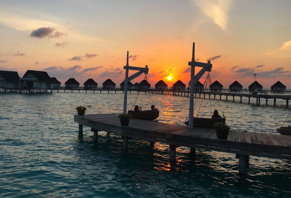sunset at centara grand maldives