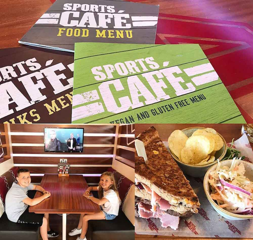sports cafe center parcs longford forest
