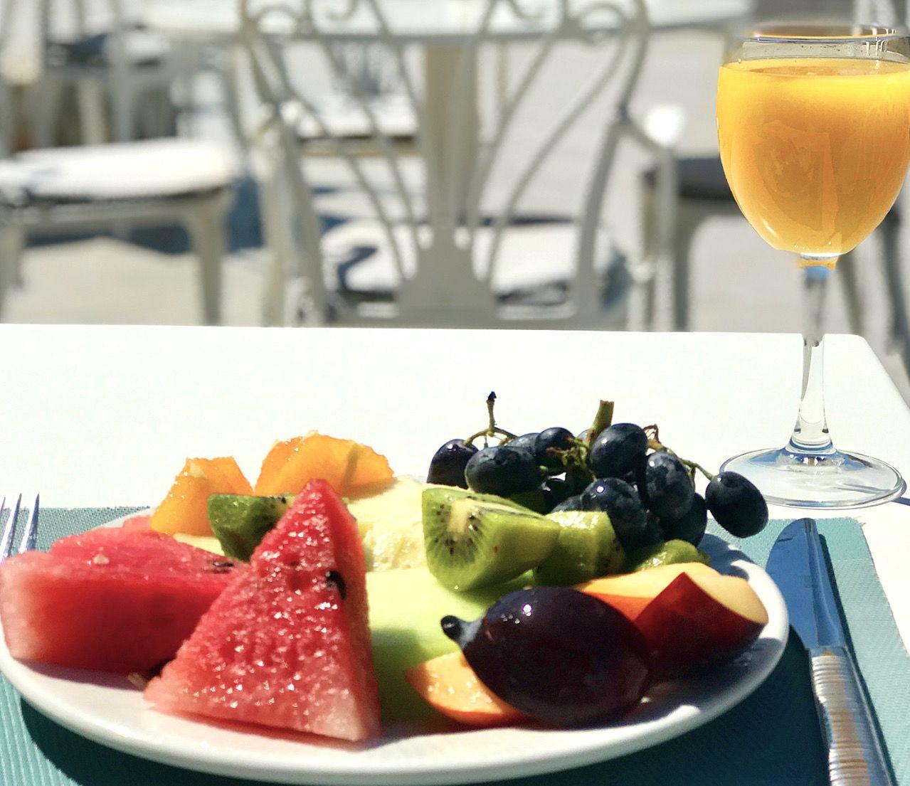 Anemos Luxury Grand Resort fruit plate