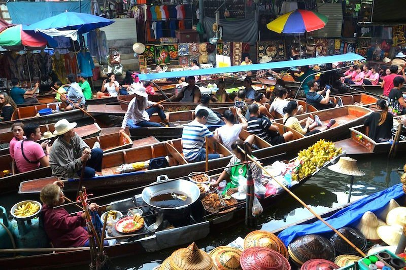 floating markets bangkok, thailand holidays