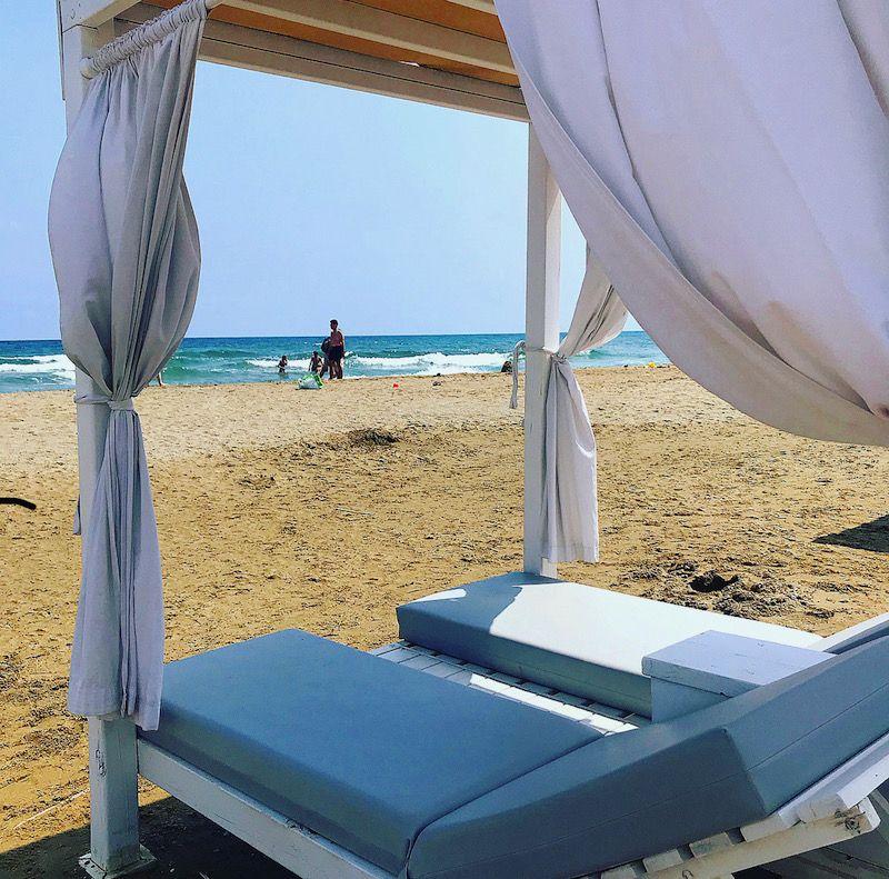 beach cabana at Anemos Luxury Grand Resort