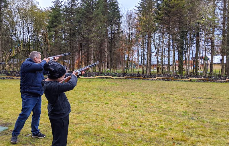 laser clay shoot at center parcs longford forest