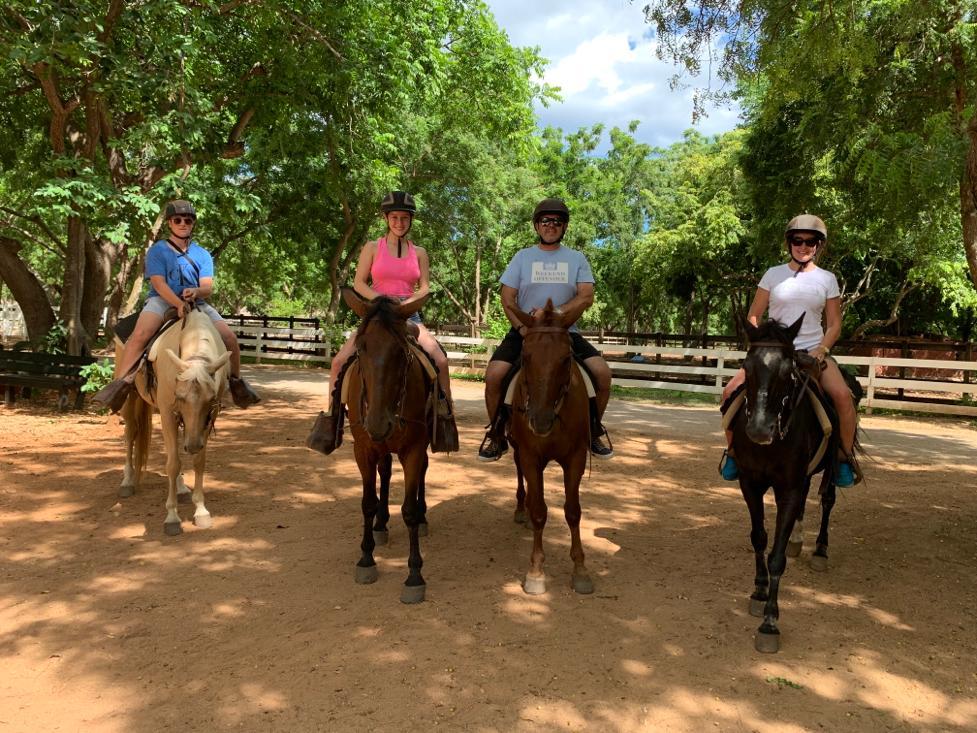horse riding at casa de campo