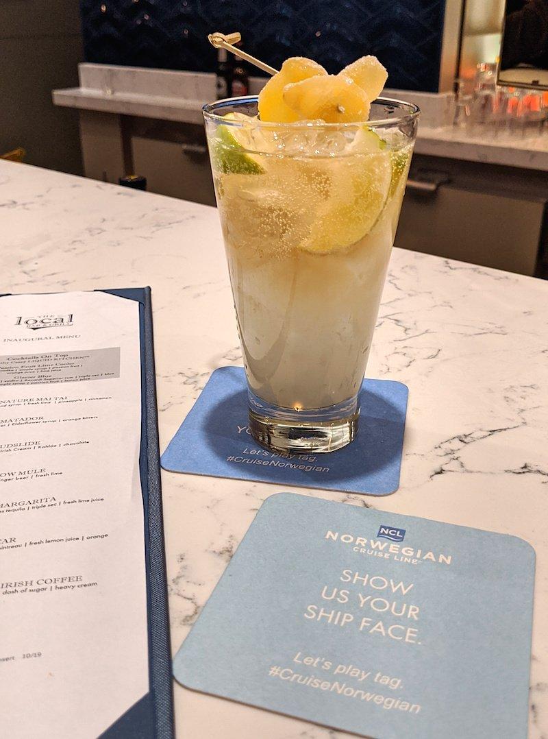 cocktails norwegian encore
