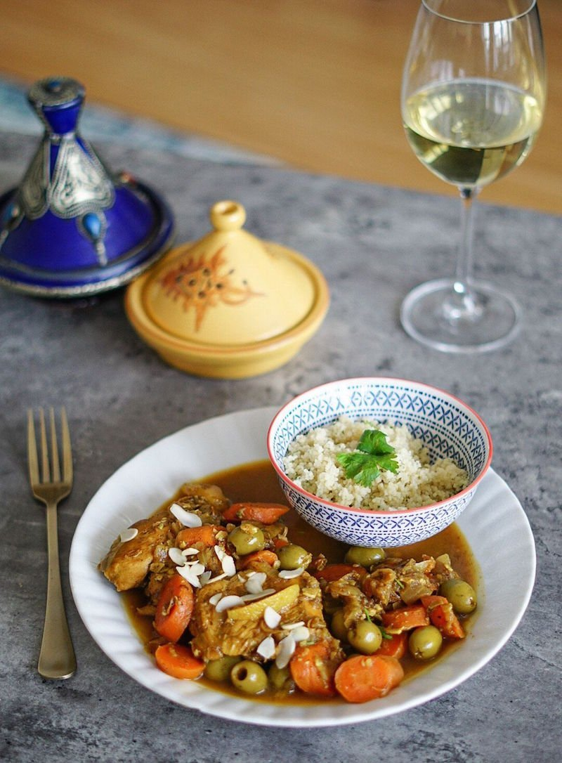 recipes from around the world - chicken tagine from Morocco