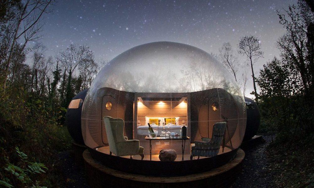 Finn lough bubble domes - unique stays in Ireland.