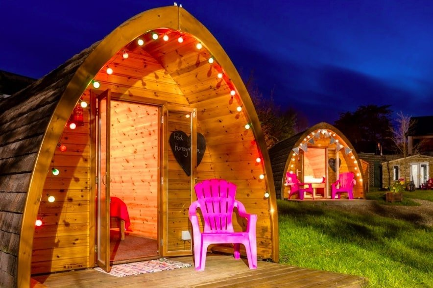 glamping pods in ireland on the Wild Atlantic Way