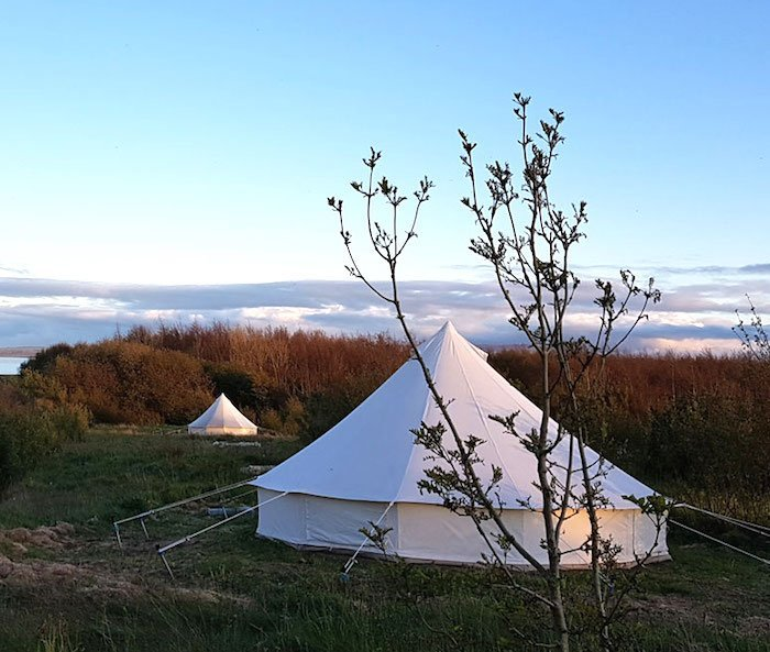family glamping on the Wild Atlantic Way