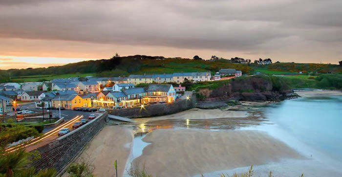 The Strand Inn Dunmore East overlooks the beach in Waterford