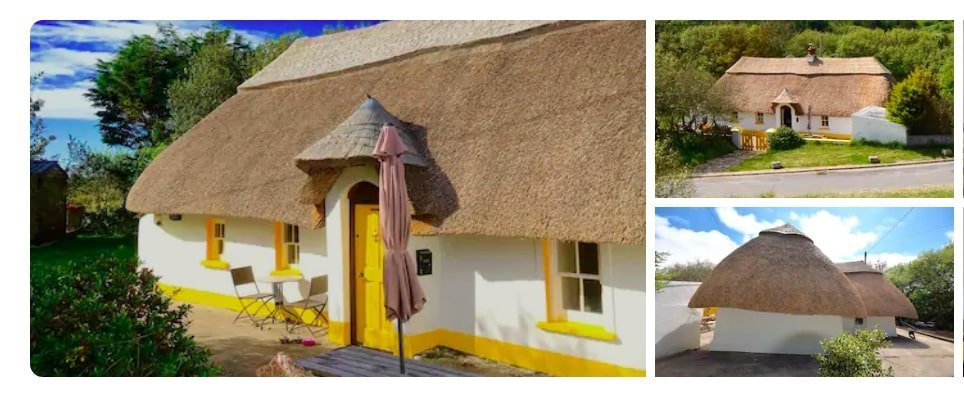 traditional Irish Airbnb cottage near the beach