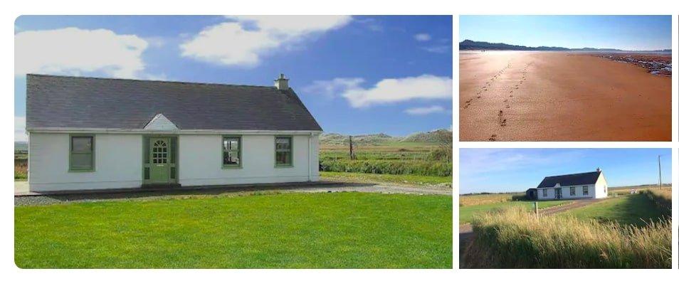 Irish cottage near the sea on Wild Atlantic Way