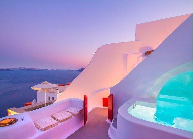 luxury airbnbs in Europe - Santorini