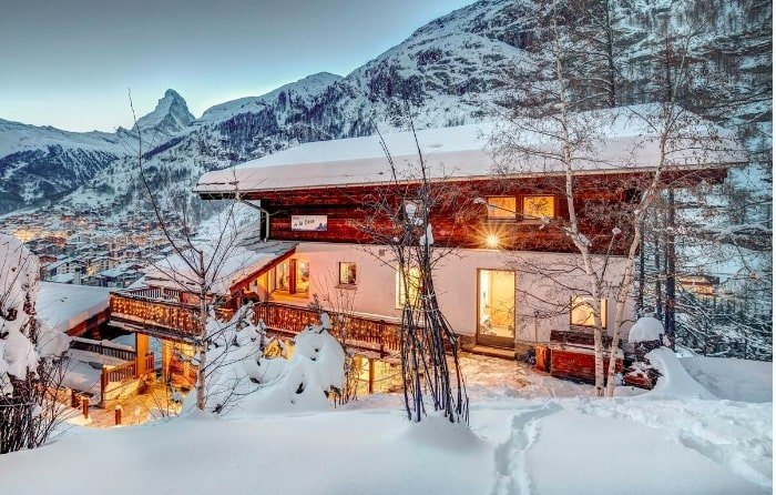 luxury ski chalets in europe on airbnb