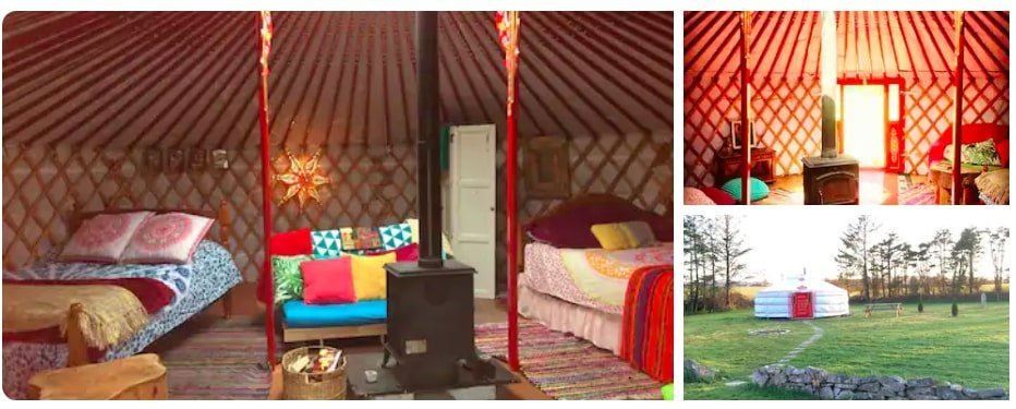 airbnb traditional yurt in Ireland