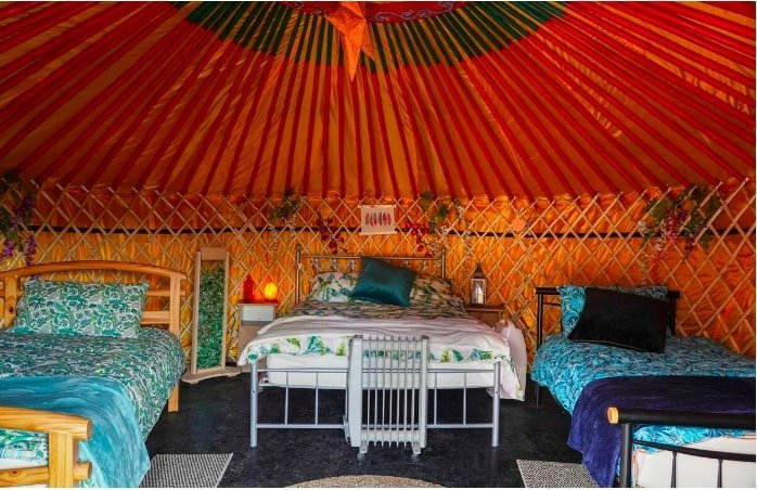 Airbnb yurt in Ireland