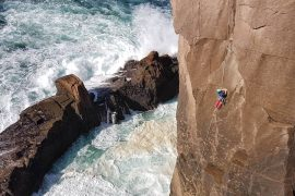 sea stack climbing is one of the top adventure holidays in Ireland