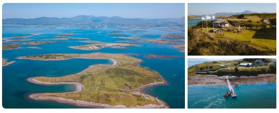 Collanmore private island is a great airbnb in Ireland for groups