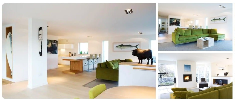 A luxury holiday home in Ireland near the sea, suitable for large families.