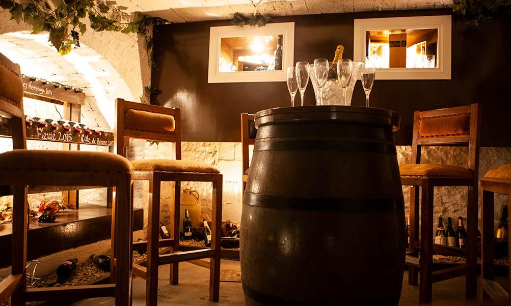 wine cellar at Breaffy House Hotel