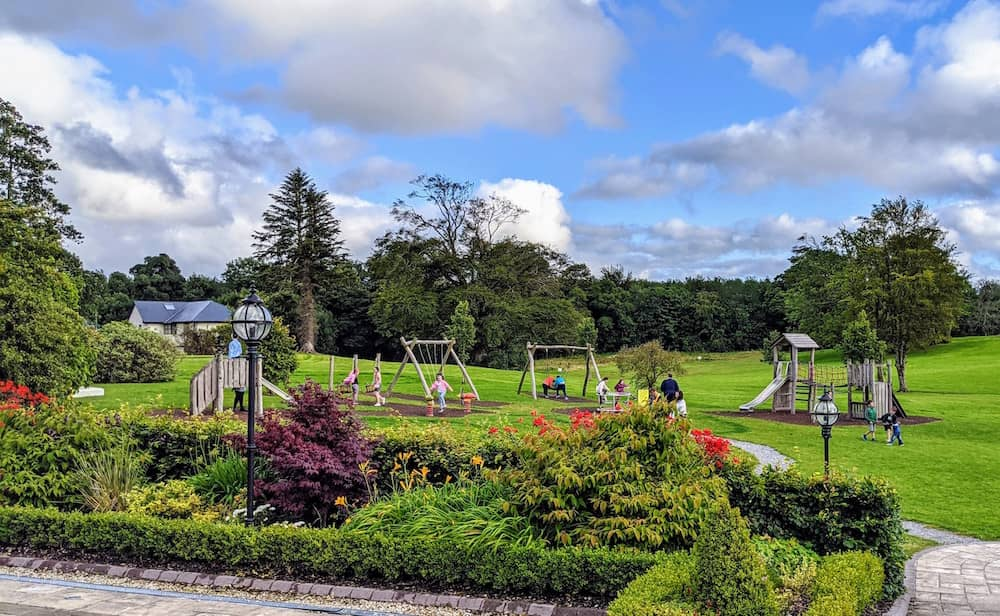 grounds with playground at Breaffy House Hotel