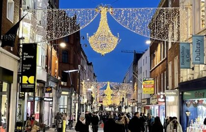 Grafton Street with Christmas decorations
