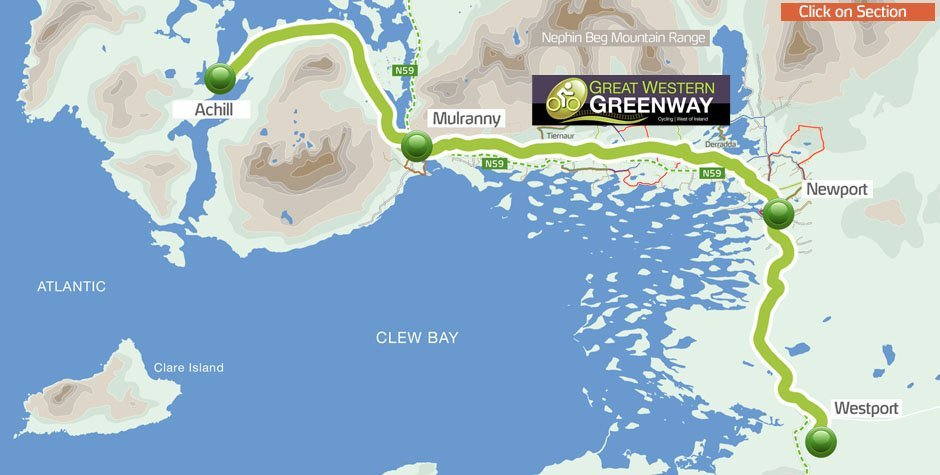 Cycling the Great Western Greenway is one of the top things to do in Mayo