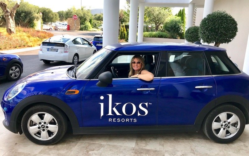 Ikos resorts all inclusive arrangement includes mini cooper hire