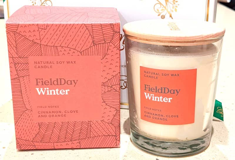 irish handmade candle, christmas gift box