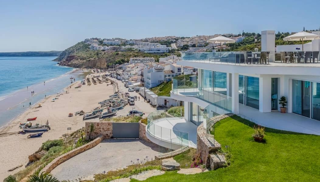 designer villa in portugal on the beach