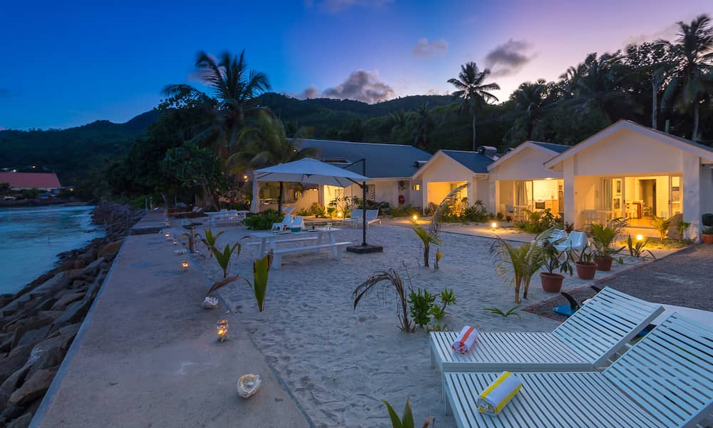 Le Nautique Beachfront Apartments are ideal for family holidays in the Seychelles.