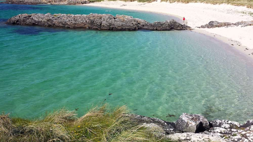 Connemara beach perfect for camping holidays in Ireland