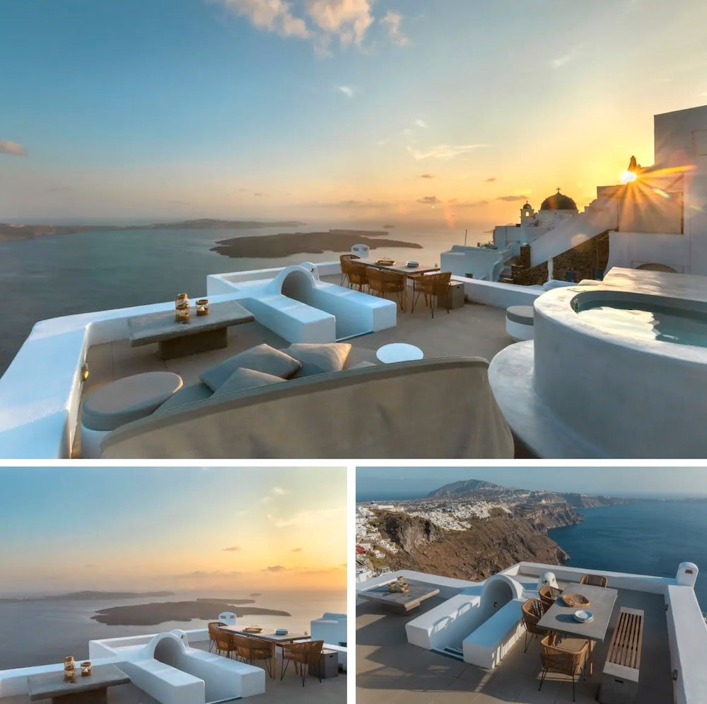 romantic villa in Santorini